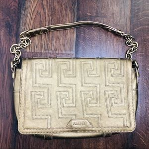 Versace Greca Quilted Gold Flap Chain Bag Rare